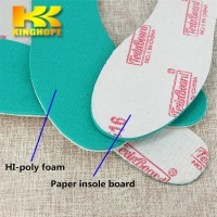China Running Shoe cellulose paper Insole Board with hi-poly foam sponge for footwear for sale
