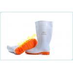 China FQS19001 White Waterproof Half Tube PVC Rain Boots for sale