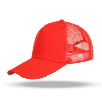 Best Custom Logo Baseball Breathable Mesh Caps Fashion Hip Hop Hats Embroidery Knitted Red Color Sports Caps wholesale