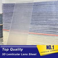 China PLASTICLENTICULAR large format standard lenticular lenses 15 LPI flip lenticular sheets for photos 3d effect on sale
