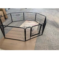 China 8 Panels Pet Stainless Dog Cage Crates Puppy Playpen Play Pen Exercise Cage Fence for sale