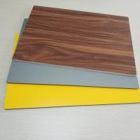 Buy cheap Circular Cladding Wood Grain Aluminum Composite Panel Embossed Surface Density 2 from wholesalers
