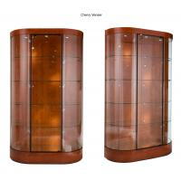 Best Curve Wall Case Glass Shop Display Cabinets With Halogen Spotlights wholesale