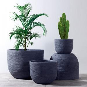 Best Weathered Garden Pots Clay Flower Pots Resin Outdoor Plant Pots Gray Color Flower Pots wholesale