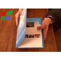 Best Rechargable LCD Video Greeting Card 128M Memory Motion Sensor Video Promotion Book wholesale
