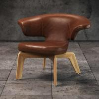 Best Beech Wood Frame Single Pu Leather Leisure Chair , Munich Chair With Backrest wholesale
