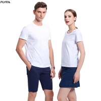 Best Flyita Custom Wholesale Short Sleeve Men And Women Cotton T Shirt Round Neck Summer Tee Shirts With Printing Logo wholesale