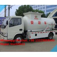 Best factory sale best price dongfeng 120HP 4tons side lifting bins food garbage truck,6m3 wastes food collecting vehicle wholesale