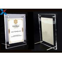 Best Clear Acrylic Photo Frame A4 A3 Certificate / Business License Frame wholesale