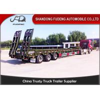 Quality 75 ton Low boy semi-trailer low bed semi truck trailer with widen device extender wholesale