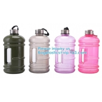 China Water Bottles Fitness Gym Sports Jug Big Capacity Plastic eco friendly Water Bottle with Straw Drinking for sale