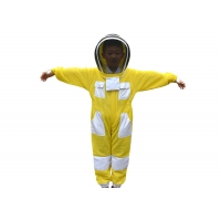 Cheap Children Yellow Color Three Layer Ventilated Beekeeping Protective Clothing for sale