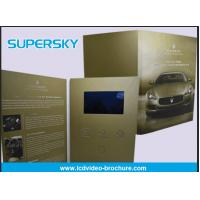 China Rechargeable LCD Video Brochure , Video In Print Brochure For Advertising for sale