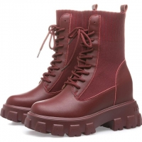 China Genuine Leather ODM Flat Platform Ankle Boots Waterproof Motorcycle Boots for sale