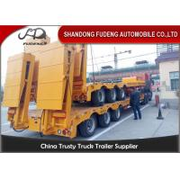 Best 80 ton Gooseneck low loader Low Bed Tractor truck trailer sale Hydraulic ramp wholesale
