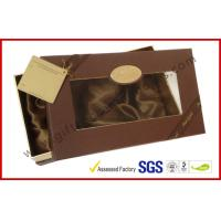 Luxury Chocolate Color Packaging Gift Boxes , Top and Base Box With Window