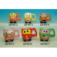 Best Cartoon Custom Ceramic Mugs Cup With Animals Head Relief 11.5 X 8.5 X 10 Cm wholesale