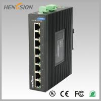 Quality 8 Port  RJ45 unmanaged full Managed Gigabit Ethernet Switch , industrial Din rail switch wholesale