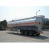Quality 3x12T BPW axle 46000L Aluminum Alloy Petroleum Mobile Fuel Tank Trailer wholesale