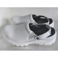 China Clean Room Anti-Static Metal Cap Safety Shoes Semi-Slipper for sale