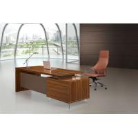 Best Brown Executive Desk 200cm With Extention Modesty And Mobile Pedestal wholesale