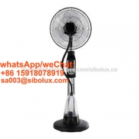 China 16 inch electric misting stand fan with remote control and LED for office and home appliances/16 mist  standing fan for sale