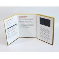 Cheap A4 Size Portrait Lcd Video Greeting Card , Full Colors Video Brochure For Christmas for sale