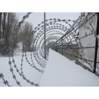Quality Prison / Airport Fence Security Wire Ultra Durable Anti Aging Barbed Wire Coil wholesale