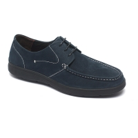 China Blue Lace Up Anti Odor Breathable Mens Leather Moccasins for sale