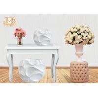 Buy cheap Home Wedding Classic Fiberglass Flower Pots Wavy Pattern Glossy White from wholesalers