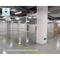 Buy cheap Class 10000 FFU Clean Room Equipment Aluminum Structure With Sliding Doors / from wholesalers