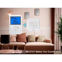 Best White / Blue Backlight Intelligent Non-programmable RF Heating and Cooling Thermostat wholesale