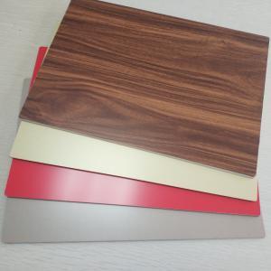 Best 4mm ACP 3D Wood Grain Aluminum Composite Panel PE Coated Fluorocarbon Coatings wholesale