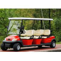 Best Popular Outdoor 6 Seater Golf Cart With Aluminum Rim , 48V Battery Voltage wholesale