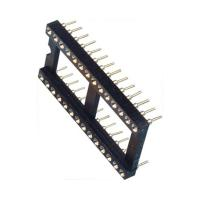 2.54mm IC Socket 2*16P DIP Dual Row Round Pin Header H=3.0,L=7.43 ROHS