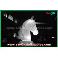 Buy cheap Full White Oxfiord Cloth Inflatable Horse Unicorn With LED Light from wholesalers