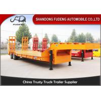 Quality Strong 25 Ton - 35 Ton Low Bed Semi Trailer , Two Axles 8 Wheel Trailer wholesale