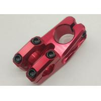 China CNC Alloy Stem Custom Bicycle Parts , Red BMX Bike Accessories on sale