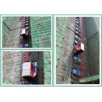 Quality Red Rack And Pinion Passenger Material Hoist Construction Elevator Twin Cage wholesale