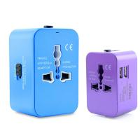 Best Original Factory UK EU US Power Plugs 2.1A Dual USB Universal travel adapter with universal USB cable set wholesale