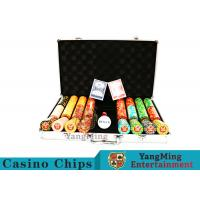 Texas Poker Chip Set / 11.5g Clay Casino Chip With Aluminum Case