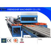 China Automatic Continuous PU Sandwich Panel Production Line For 25mm - 100mm Thickness PU Foam on sale