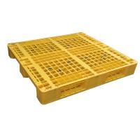 Best Three Runner Single Faced Edge Stackable Plastic Euro Pallet Price wholesale