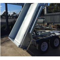 Quality 10x6 Hot Dipped Galvanised Tipper Trailer , Tandem Axle Tipping Trailer 3200kg Load wholesale