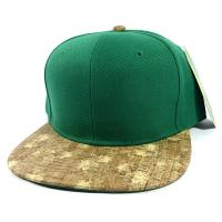 Buy cheap Acylic Body Wholesale Plain Cork Snapback Hats - Wood Brim Caps Green | Lines from wholesalers