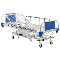 Best 4 Function Hydraulic Medical Patient Bed With Aluminum Alloy Side Rails wholesale
