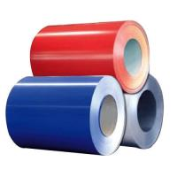 Best Prepainted Red / Blue Color Coated Steel Coil Q195 / Q235 Material For Advertising wholesale