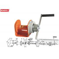Buy cheap Portable Mini Manual Hand Winch 1 Ton With 8mm Wire Rope / Orange Painting from wholesalers