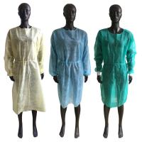Best Soft Disposable Isolation Gown , Disposable Ppe Gowns Elastic Cuffs OEM Service wholesale