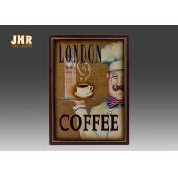 Best Coffee Shop Wall Art Sign Decorative Wood Wall Plaques Antique Home Wall Decor wholesale
